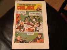 MONSTER FUN BADTIME BEDTIME BOOK 1970's Paper pull / cut out Comic COOL JOCK