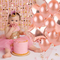 10Pcs Rose Gold Series Foil Latex Balloon Set Wedding Happy Bithday Party Decor