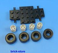 Lego City Camión / Auto 1X Plancha Suelo 4 X Neumáticos 4X Llantas Gris Claro