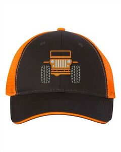 Low Profile Trucker Cap - Jeep - Charcoal/Neon Orange/Crush/Punk'n/Mango Tango