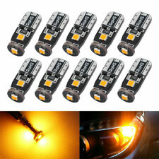10X W5W T10 3030 3SMD Canbus Amber LED interior Wedge Side Light Bulbs 194 168