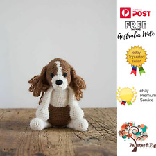 Philip the Cavalier King Charles Spaniel Crochet Kit - Wool, Stuffing, Needle