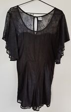 FINDERSKEEPERS Black Lace Playsuit Size10