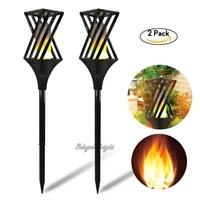 96 LED Outdoor Solar Waterproof Flame Flickering Lamp Lawn Light Decoration lot