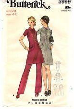 "Vintage 1970s Butterick Sewing Pattern Women's DRESS PANTS 5999 Sz 20 B42"" UNCUT"