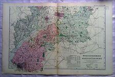 Worcestershire & glocestershire, anni 1890 Gate Mappa PIEGA