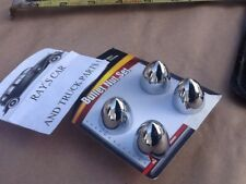 NEW SET 4 CHROME BULLET STYLE METAL BULLET STYLE LICENSE PLATE FASTENERS !