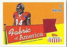 Ty Warren TEXAS A&M 2003 Topps All American FABRIC OF AMERICA JERSEY