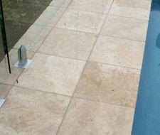 Light Travertine Tumbled Paver Tile 406x406x30mm Premium Quality
