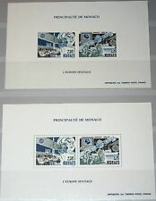 Monaco 1991 Maury BS 14 2009-10 sd A-B Europe CEPT space satellite spatial MNH