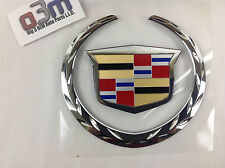 Cadillac Escalade EXT Rear Lift Gate Colored Crest & Chrome Wreath EMBLEM new OE