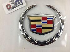 Cadillac Escalade EXT Rear Lift Gate Colored Crest & Chrome Wreath EMBLEM new OE