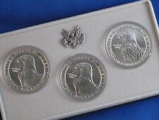 1984-PDS Olympic Silver Dollar BU Set Of 3 B4840