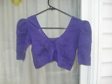 "PRE-OWENED PURPLE BLUE COTTON BLOUSE FITS TO BUST 32""-35""(USA SELLER)"