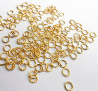 Wholesale 2000PCS 3-9MM Make Jewelry Findings  Gold Plate Opening Jump Rings