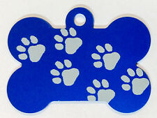 100 Walking Paw Dog Bone Pet ID tags Anodized ALuminum Laser Blank wholesale USA