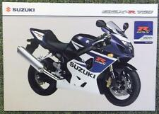 SUZUKI GSX R 750 MOTORCYCLE Sales Sheet marzo 2005