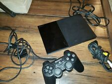 Sony PlayStation 2 Slim Black Console (Scph-90001) With Oem Controller!