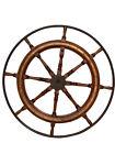 "Huge Antique Ships Wheel, Nautical, Oak & Brass, Turn of Century, 48"" #11419"