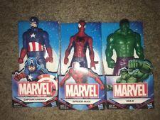 "Marvel Comics 3 Action Figures 6"" Spider-man Captain America Hulk Avengers"