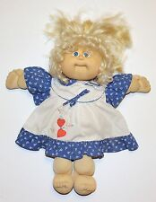 Cabbage Patch Kid Vintage Coleco Girl Doll Blonde Hair Blue Eyes 1986 Dimple