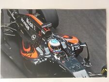 Fernando Alonso Hand Signed Autograph signature, 2016 Photo of McLaren 30x20cm