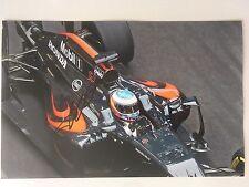 Fernando Alonso Mano Firmado Autógrafo Firma, 2016 foto de McLaren 30x20cm
