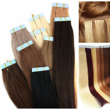 16-24 pollici 8A Extension capelli umani Remy Trama Senza Cuciture Nastro in Pelle Trama Capelli