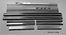 VW GOLF 5 5 PORTES SEUILS DE PORTE 8 pièces acier inoxydable AF