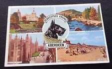 POSTCARD: GREETINGS FROM ABERDEEN: COLOUR: MULTI SCENE: POSTED