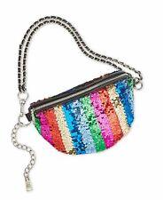 Steve Madden Women's Pride Sparkle Convertible Belt Bag, Rainbow