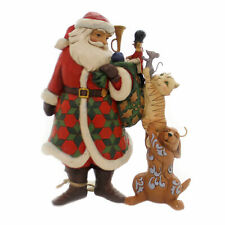 Jim Shore 2018 Santa Cat Dog Toy Bag Animals 6002729