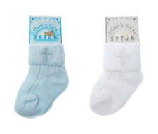 Baby Christening Socks Cross Unisex Boy Girls Cute Newborn 0-12 Months NEW