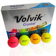 12 Volvik Crystal Golfbälle Bunt  - Hyper Soft Distance - Pink Gelb Orange Grün