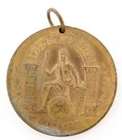 1901 STATE OF QUEENSLAND FEDERATION MEDALLION. 30MM IN DIAMETER.
