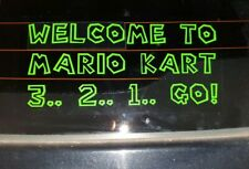 Mario Kart 8 64 tour deluxe switch SNES window bumper Car sign decal Stickers