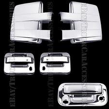 Chrome Covers For FORD F150 2009-2014 Full Mirror+2 Doors PSK+Tailgate KH Camera