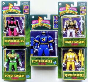 Hasbro Power Rangers! Retro-Morphin  Set of 5 Pink, Yellow, White, Green, Blue