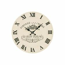 Cream Vintage Home Wall Clock, MDF & Charming Traditional Design