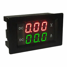 DC 300V/20A Shunt Ammeter Voltmeter Digital LED Dual display meter 12V 24V CAR