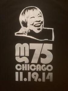 Mavis Staples MS 75 One Night Only Chicago Concert T-Shirt 2-Sided 2014 Medium M