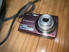 Nikon Coolpix S220 10MP Digital Camera W/ charger and battery--WORK TESTED-