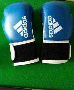 Adidas Hybrid 100 Boxing Gloves Blue 10oz
