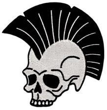 Ao77 Punk Teschio Croce di Ferro Biker ricamate STAFFA immagine applicazione Patch
