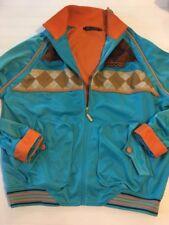 COOGI Jacket XL Hip Hop Embroidered 1969 Ski Club Track Coat Teal Orange Brown