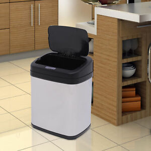 Stainless Steel Automatic Sensor Dustbin Kitchen Waste Bin Rubbish Trashcan 20L