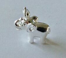 PRETTY LITTLE SILVER BABY ELEPHANT CLIP ON CHARM-FOR BRACELET-925 SILVER PLATE
