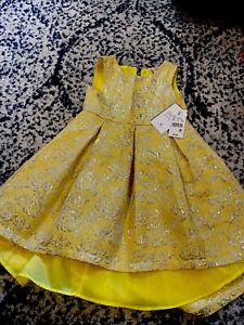 Project Fairy Tale Disney Princess Belle Yellow Girls Dress Size 4T