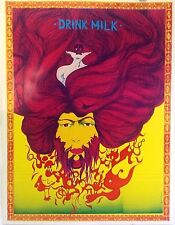 Drink Milk | Psychedelic Art by Eric Thono - Original 1960s Poster