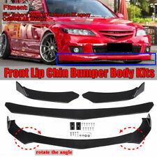 Front Bumper Lip Spoiler Lower Splitters Glossy Black For Subaru WRX STI Impreza